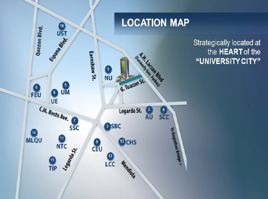 Dormitory Unit For Sale Forbes Hall, Manila City Map