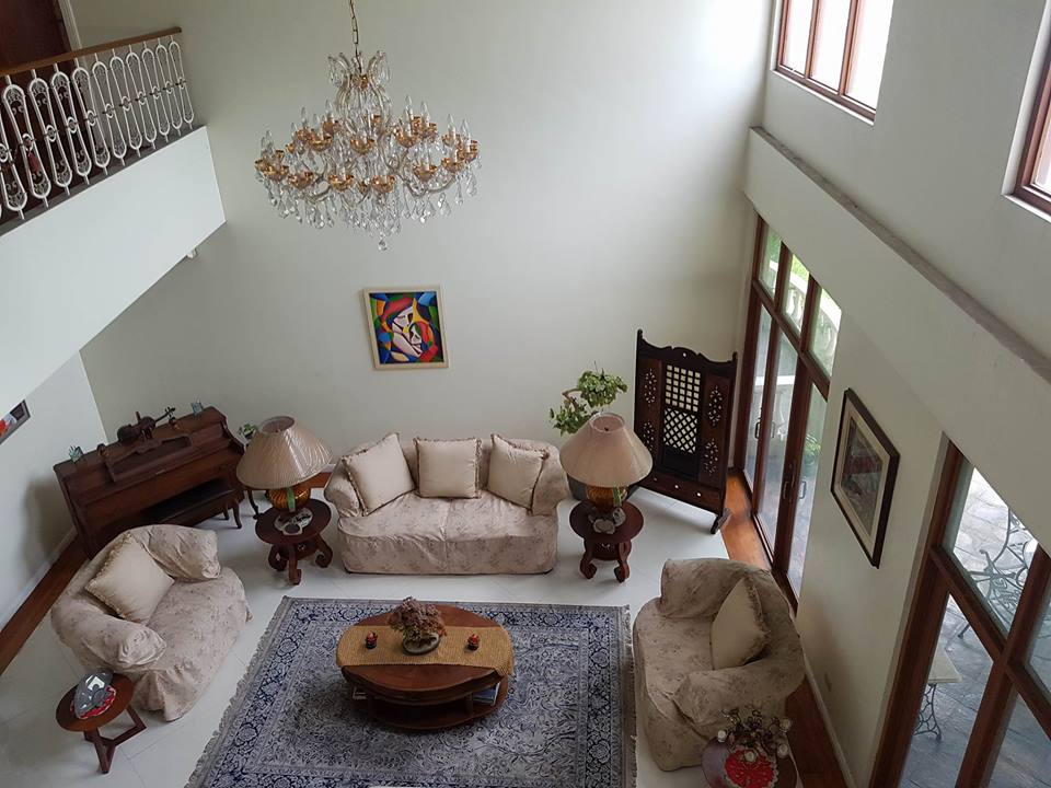 6BR House For Rent Dasmariñas Village Living Area Upper View