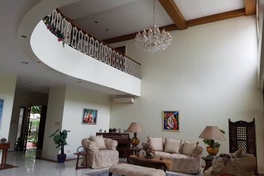 6BR House For Rent Dasmariñas Village Living Area Lower View