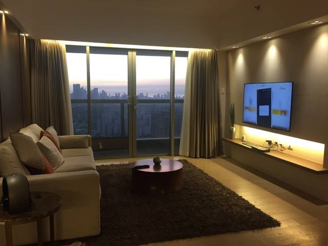 2BR Condo For Sale One Shangrila Living Area View 1