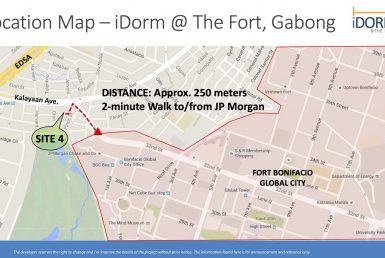iDorm at The Fort Gabong Map