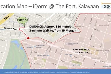 iDorm at The Fort Kalayaan Map