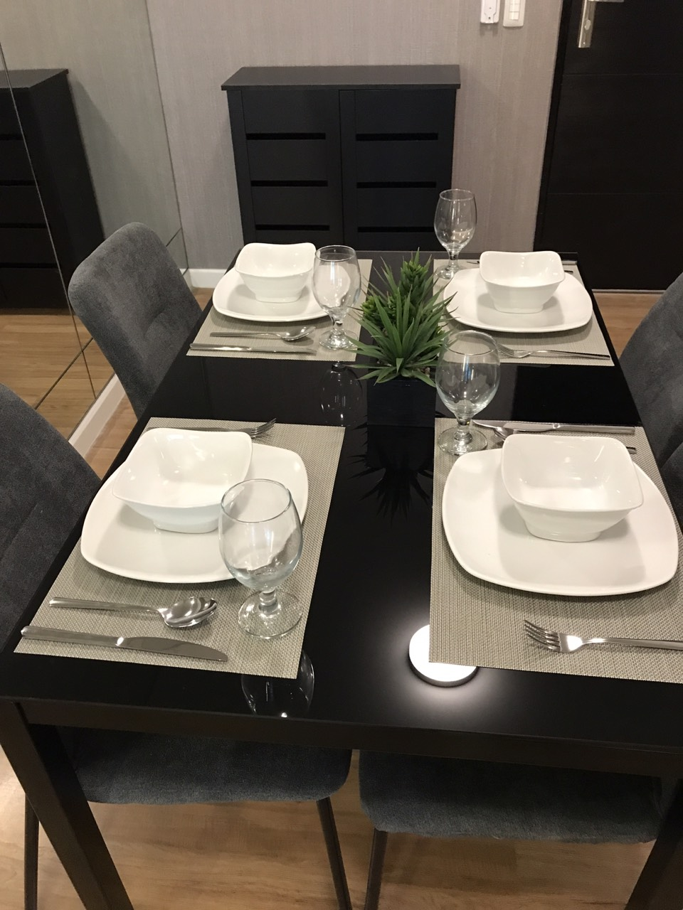 1BR Condo For Rent One Maridien Dining Area View 1