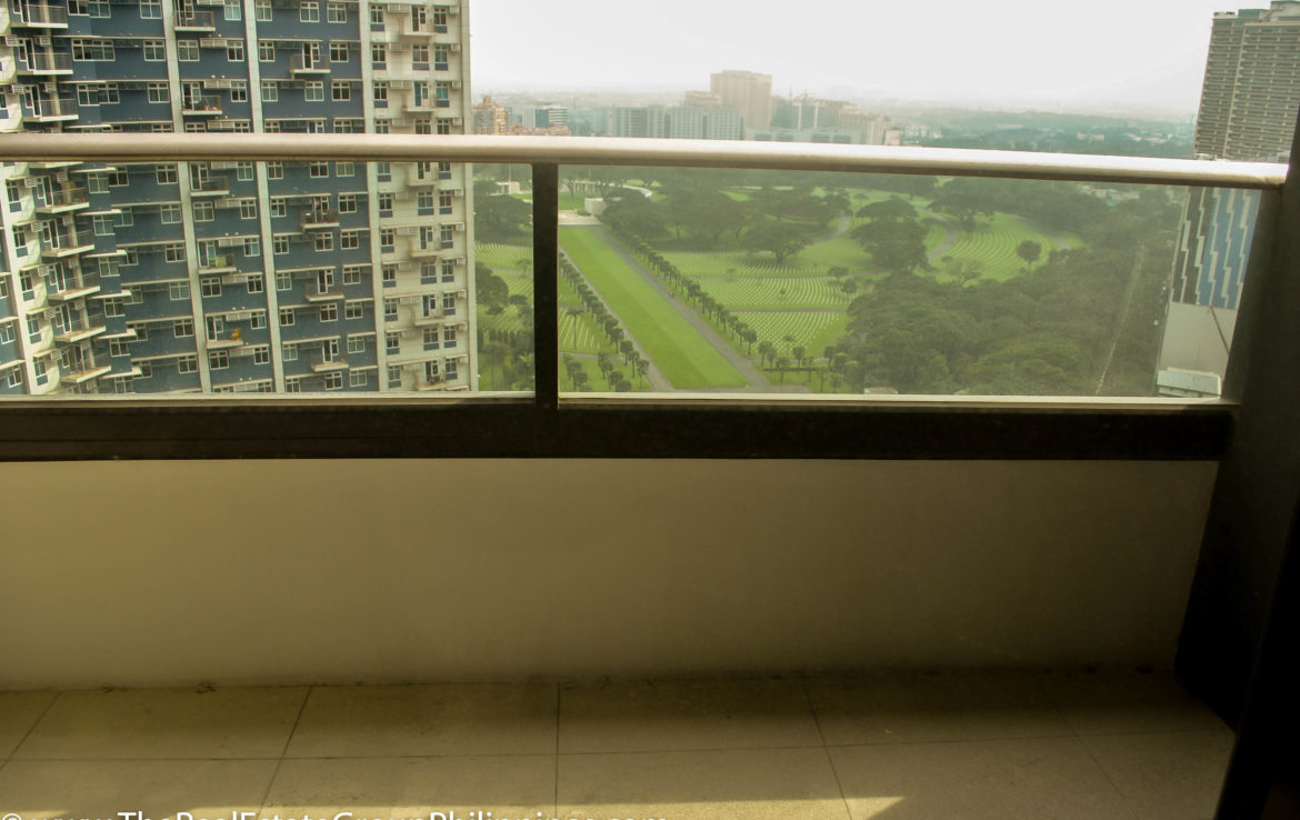 2BR Arya Residences For Rent Balcony View