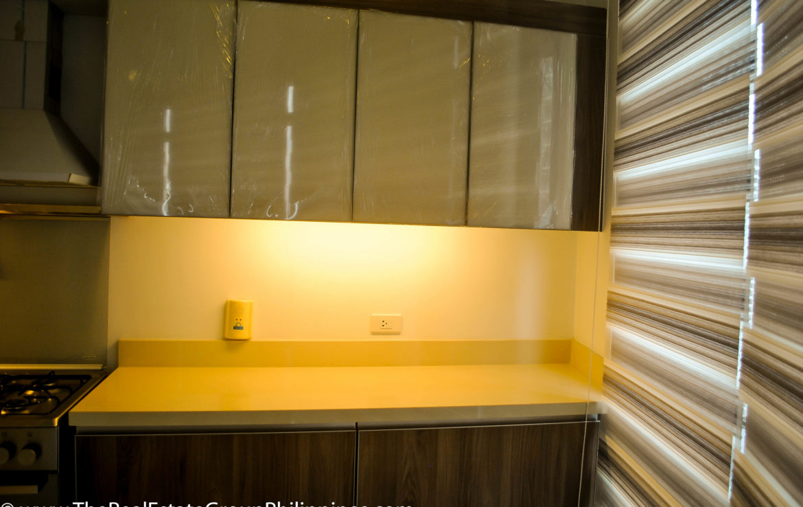 2BR Arya Residences For Rent Kitchen Cabinets