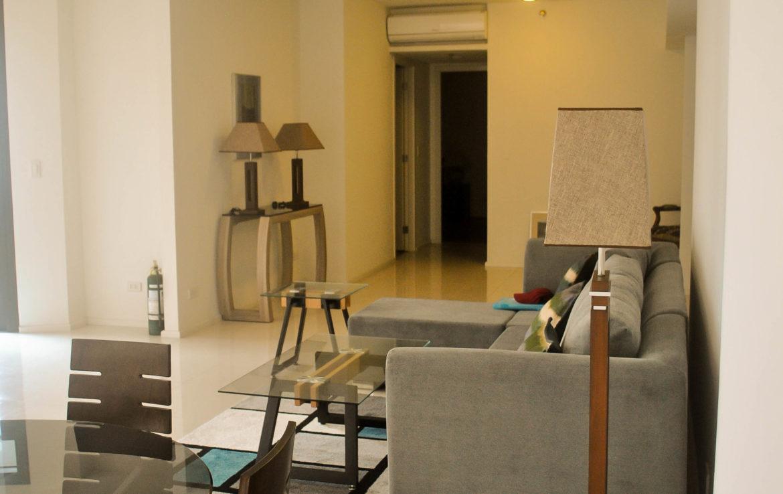 2BR Arya Residences For Rent Living Area Side