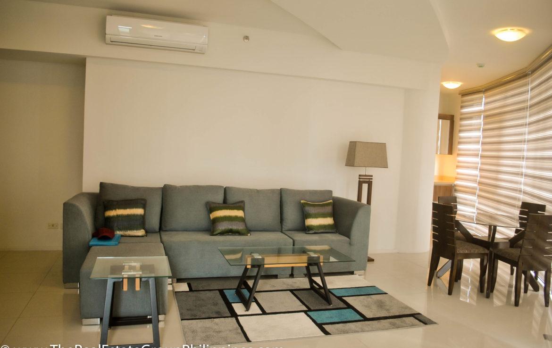2BR Arya Residences For Rent Living & Dining