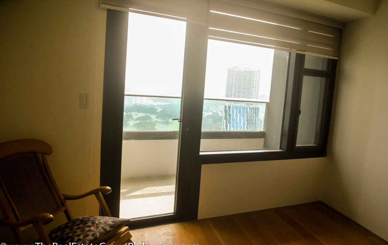 2BR Arya Residences For Rent Master Bedroom Balcony