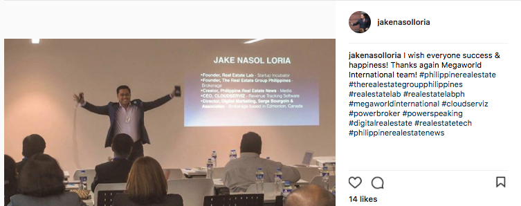 Jake Nasol Loria CEO Real Estate Lab Philippines