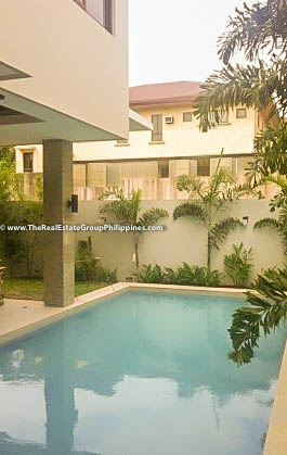 4BR House For Rent Sale, Buckingham St, Hillsborough Alabang Village, Muntinlupa City pool