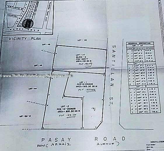 892 Sqm, Vacant Lot For Sale, Arnaiz Avenue Cor Santillan Street, Makati City Map