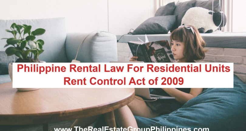 PHILIPPINE RENT LAW FOR RESIDENTIAL UNITS | RENT CONTROL ACT OF 2009