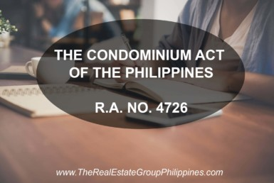 THE CONDOMINIUM ACT OF THE PHILIPPINES, RA 4726