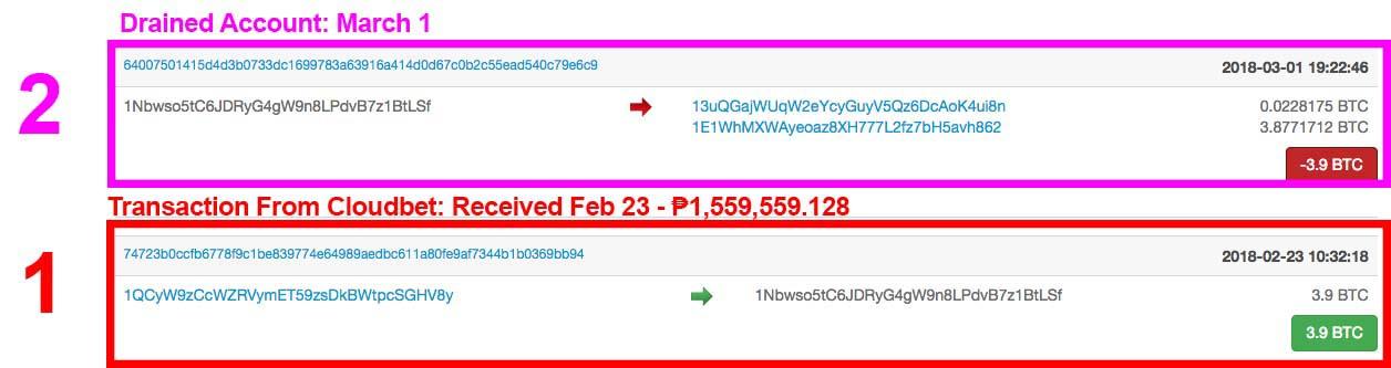 Arnel Ordonio Bitcoin 2nd Transactions