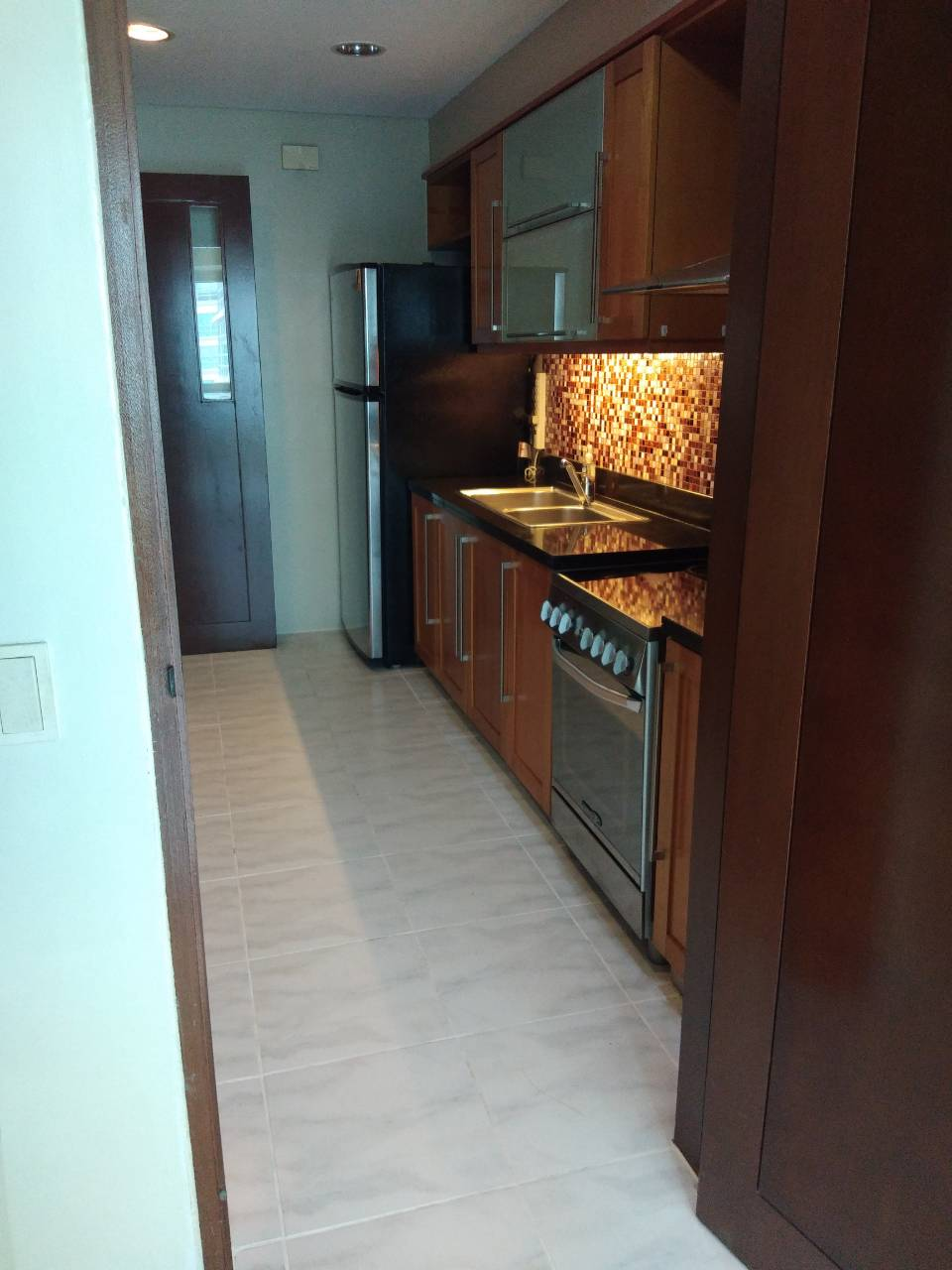 2 Bedrooms Condo For Rent, The Residences At Greenbelt Kitchen View 2