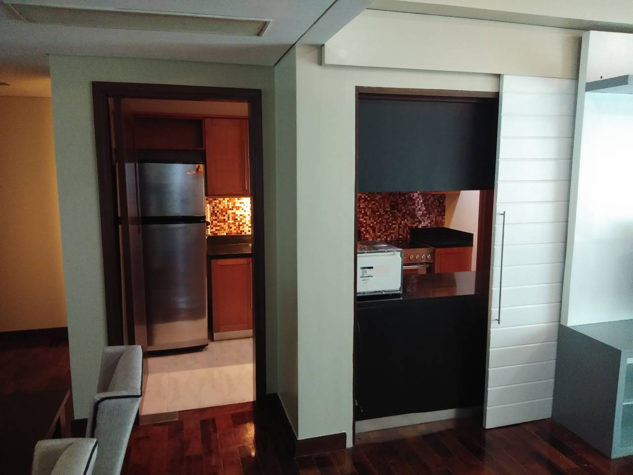 2 Bedrooms Condo For Rent, The Residences At Greenbelt Kitchen Entrance