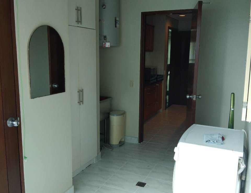 2 Bedrooms Condo For Rent, The Residences At Greenbelt Washing Area Inside