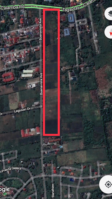 Residential Lot For Sale, Tagaytay City, Cavite Google Map