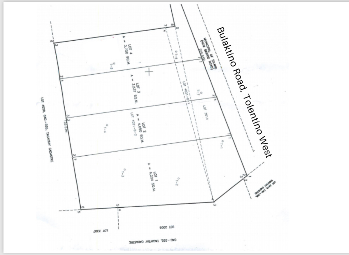 Vacant lot For Sale, Tolentino West 2