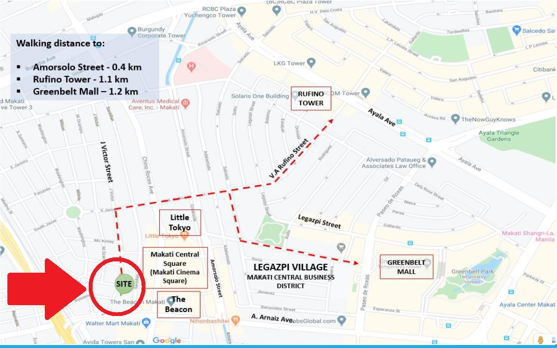 JVictor Makati Dorm Building For Sale-Map