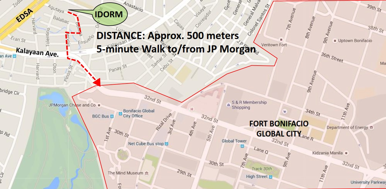 Pre-Selling Dormitory Building Fort Agutaya-Map
