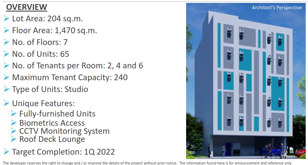 Pre-Selling Dormitory Building Fort Agutaya-Overview