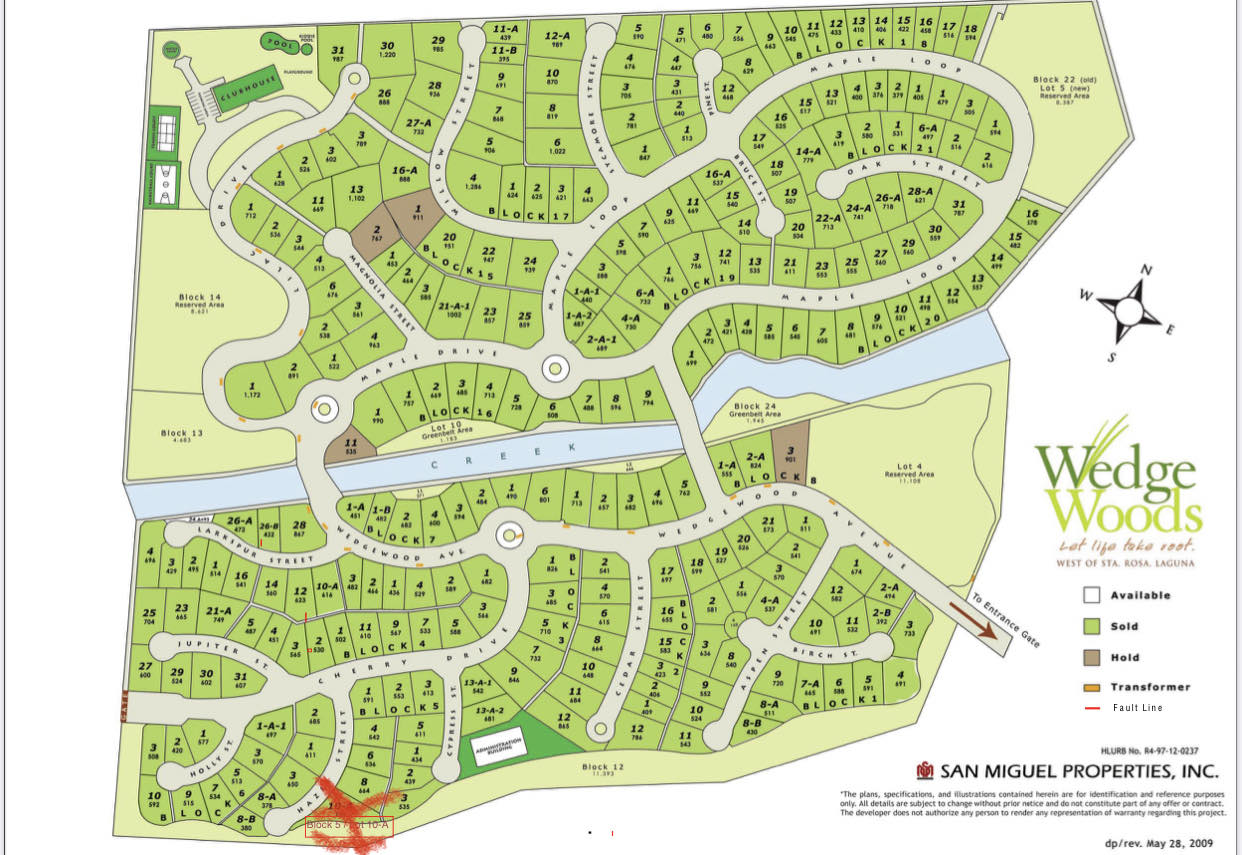 Vacant lot For Sale at San Miguel Wedgewoods, Silang, Cavite