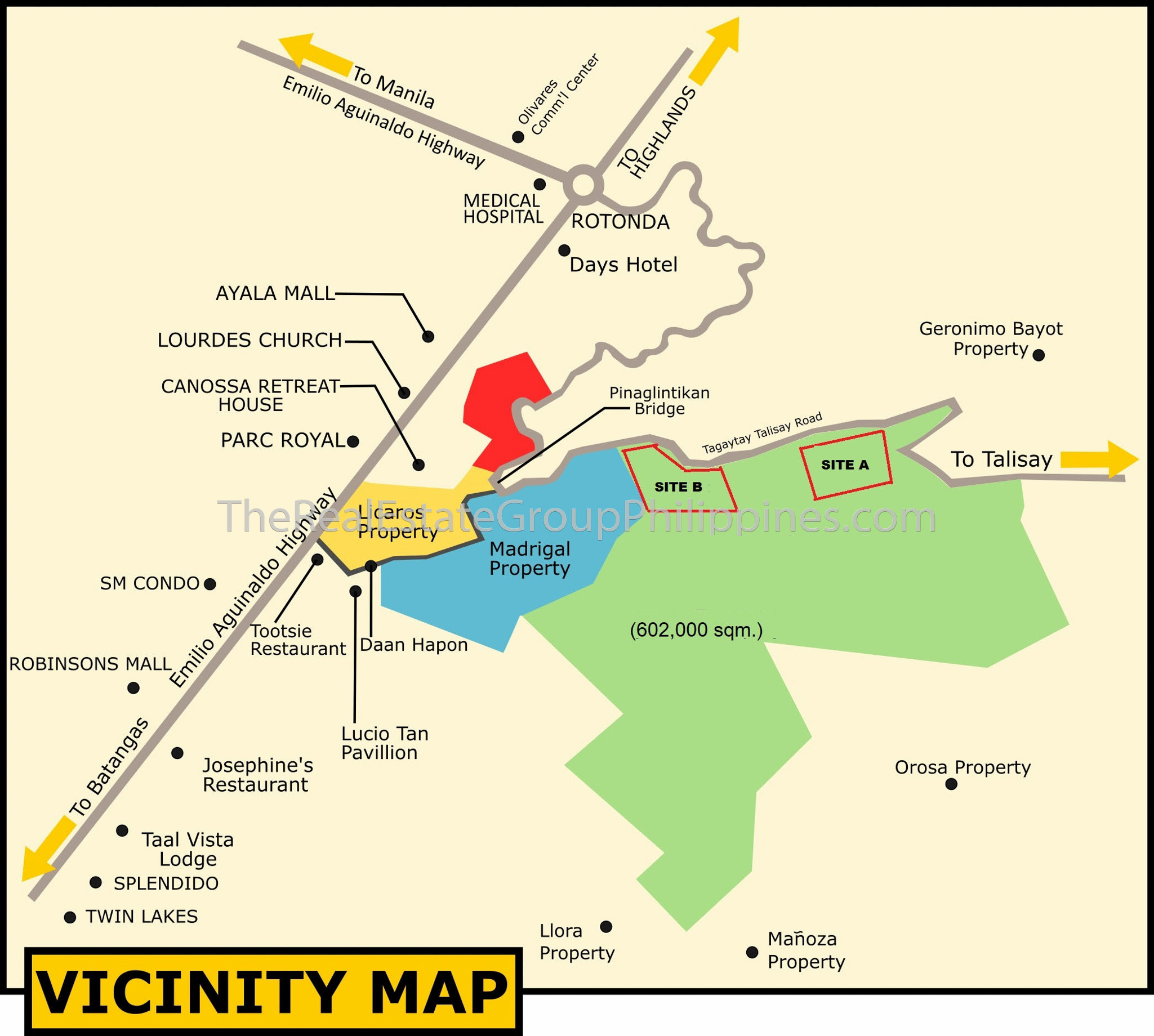 60 Hectares Vacant Lot Land For Sale Tagaytay Vicinity Map