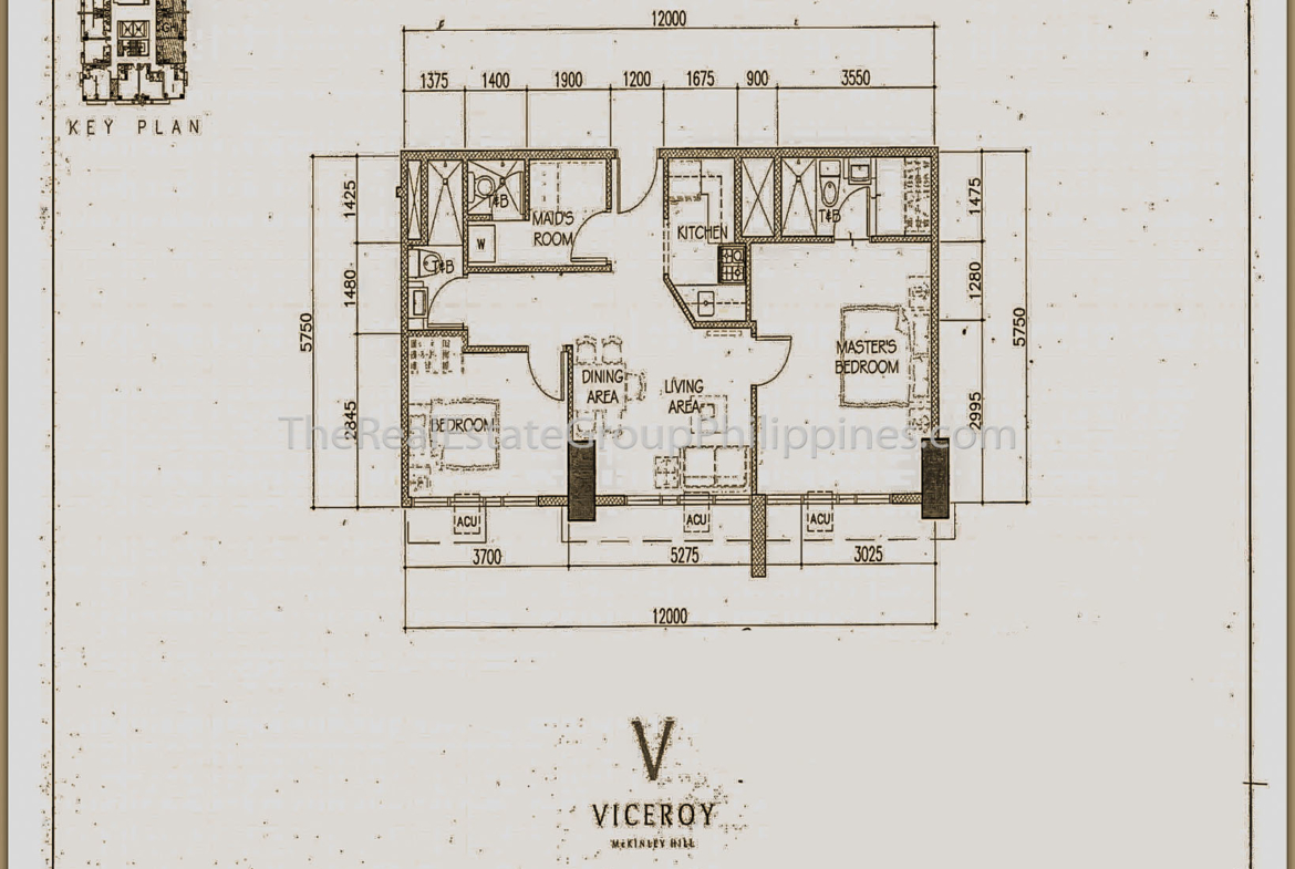 2BR Condo For Rent Lease Sale Viceroy Tower 3 McKinley Hill BGC Taguig-2
